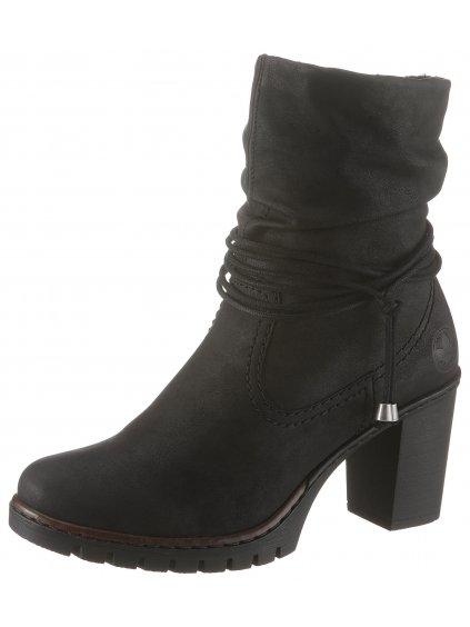 RIEKER kotníčkové boty na podpatku