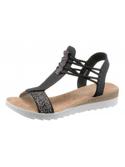 RIEKER sandály s kamínky