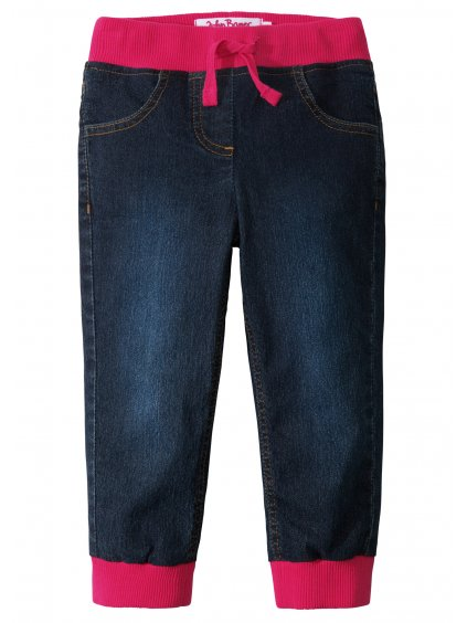 17100318dzinsy ocieplane na podszewce z dzerseju ciemnoniebieski stone rozowy hibiskus